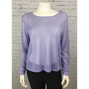 NWT Eileen Fisher Purple Viscose Sweater